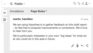 Screenshot of Hypothes.is annotation sidebar